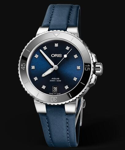 Oris Aquis Date Diamonds 36.5mm Replica Watch 01 733 7731 4195-07 5 18 46FC