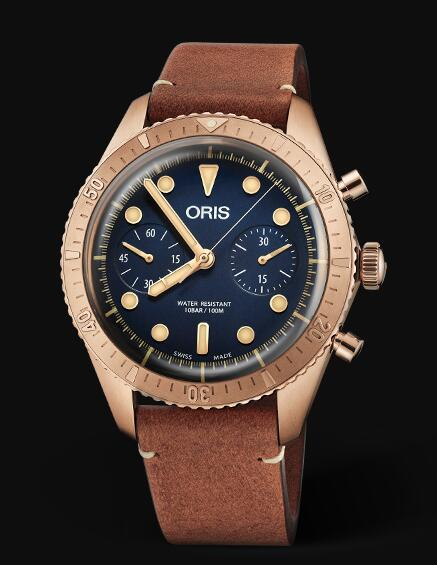 Oris Divers Carl Brashear Chronograph Limited Edition 01 771 7744 3185-Set LS Replica Watch