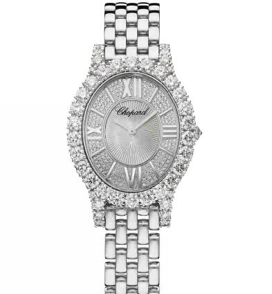 Chopard Replica Watch L'HEURE DU DIAMANT OVAL SMALL 18K WHITE GOLD AND DIAMONDS 109422-1101