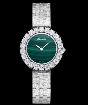 Chopard Replica Watch L'HEURE DU DIAMANT ROUND SMALL SMALL AUTOMATIC WHITE GOLD DIAMONDS 10A378-1001