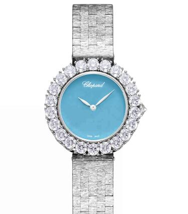 Chopard Replica Watch L'HEURE DU DIAMANT ROUND SMALL SMALL AUTOMATIC WHITE GOLD DIAMONDS 10A378-1004