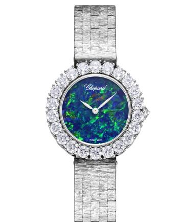 Chopard Replica Watch L'HEURE DU DIAMANT ROUND SMALL SMALL AUTOMATIC WHITE GOLD DIAMONDS 10A378-1006