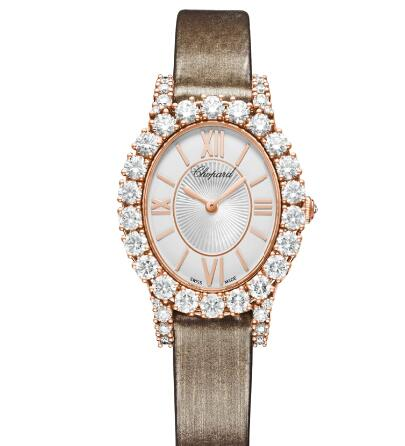 Chopard Replica Watch L'HEURE DU DIAMANT OVAL SMALL SMALL OVAL MANUAL ROSE GOLD DIAMONDS 139384-5104