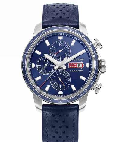 Chopard Classic Racing Replica Watch MILLE MIGLIA GTS AZZURRO CHRONO 44 MM AUTOMATIC STAINLESS STEEL 168571-3007