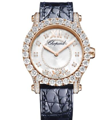 Chopard Happy Sport Joaillerie Watch Cheap Price 36 MM AUTOMATIC ROSE GOLD DIAMONDS 274809-5001