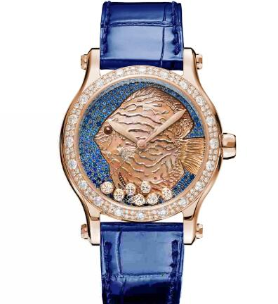 Chopard Happy Fish Watch Cheap Price 36 MM AUTOMATIC ROSE GOLD DIAMONDS 274891-5019