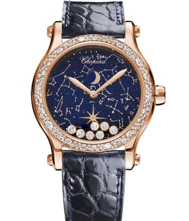 Chopard Happy Moon Watch Cheap Price 36 MM AUTOMATIC ROSE GOLD DIAMONDS 274894-5001