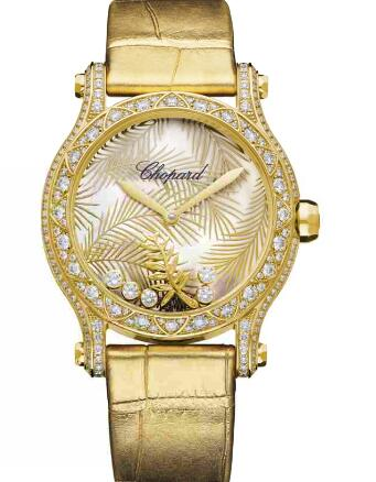 Chopard Happy Palm Watch Cheap Price 36 MM AUTOMATIC YELLOW GOLD DIAMONDS 275366-0001