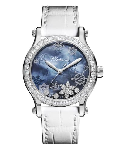 Chopard Happy Snowflakes Watch Cheap Price 36 MM AUTOMATIC STAINLESS STEEL DIAMONDS 278578-3001
