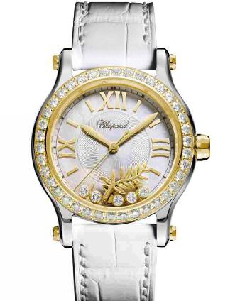 Chopard Happy Palm Watch Cheap Price 36 MM AUTOMATIC YELLOW GOLD STAINLESS STEEL DIAMONDS 278578-4001