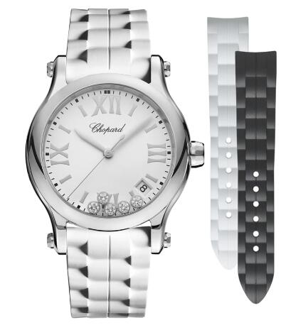 Chopard Happy Sport Watch Cheap Price 36 MM QUARTZ STAINLESS STEEL DIAMONDS 278582-3001