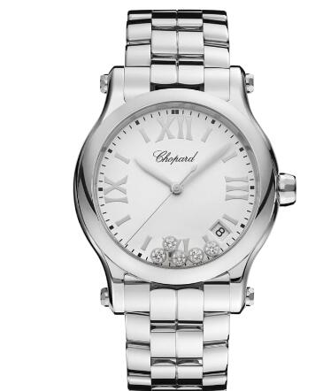 Chopard Happy Sport Watch Cheap Price 36 MM QUARTZ STAINLESS STEEL DIAMONDS 278582-3002