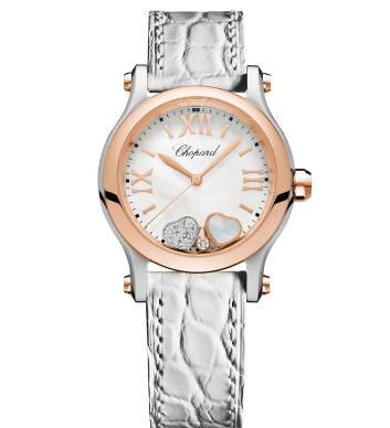 Chopard Happy Hearts Watch Cheap Price 30 MM QUARTZ ROSE GOLD STAINLESS STEEL DIAMONDS MOTHER-OF-PEARL 278590-6005