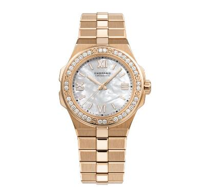 Chopard Alpine Eagle Replica Watch ALPINE EAGLE SMALL 36 MM AUTOMATIC ROSE GOLD DIAMONDS 295370-5002