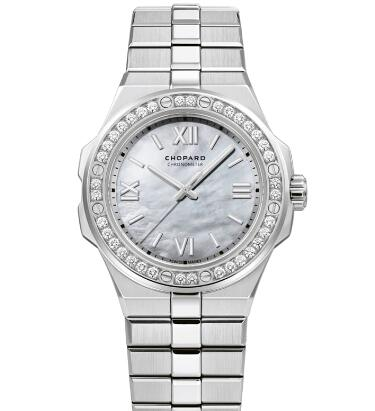 Chopard Alpine Eagle Replica Watch ALPINE EAGLE SMALL 36 MM AUTOMATIC CHOPARD LUCENT STEEL A223 DIAMONDS 298601-3002