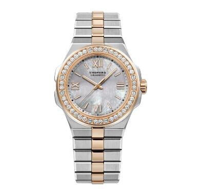 Chopard Alpine Eagle Replica Watch ALPINE EAGLE SMALL 36 MM AUTOMATIC ROSE GOLD CHOPARD LUCENT STEEL A223 DIAMONDS 298601-6002