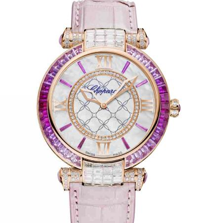 Chopard Imperiale Joaillerie Watches for sale Review Replica 40 MM AUTOMATIC ROSE GOLD DIAMONDS PINK SAPPHIRES 384239-5010