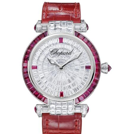 Chopard Imperiale Joaillerie Watches for sale Review Replica 40 MM AUTOMATIC WHITE GOLD DIAMONDS RUBIES 384240-1003