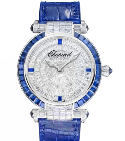 Chopard Imperiale Joaillerie Watches for sale Review Replica 40 MM AUTOMATIC WHITE GOLD DIAMONDS SAPPHIRES 384240-1005
