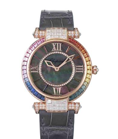 Chopard Imperiale Joaillerie Rainbow Watches for sale Review Replica 36 MM AUTOMATIC ROSE GOLD DIAMONDS 384242-5019