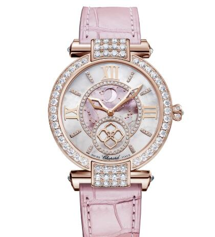 Chopard Imperiale Moonphase Watches for sale Review Replica 36 MM AUTOMATIC ROSE GOLD DIAMONDS 384246-5001