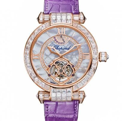 Chopard Imperiale Tourbillon Watches for sale Review Replica 42 MM MANUAL ROSE GOLD DIAMONDS 384250-5005