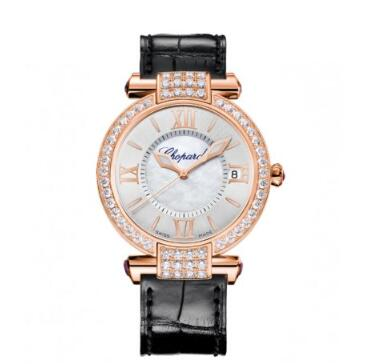 Chopard Imperiale Watches for sale Review Replica 36 MM AUTOMATIC ROSE GOLD DIAMONDS 384822-5002