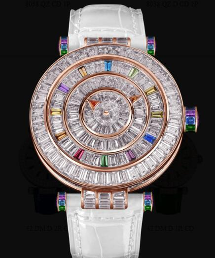 Franck Muller Round Ladies Double Mystery Replica Watch for Sale Cheap Price 42 DM COL DRM BAG C BAG