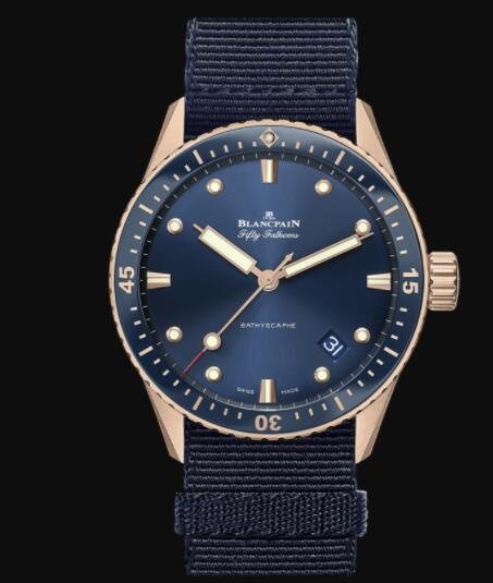 Blancpain Fifty Fathoms Bathyscaphe Replica THE FIRST MODERN DIVER'S WATCH 5000 36S40 NAOA