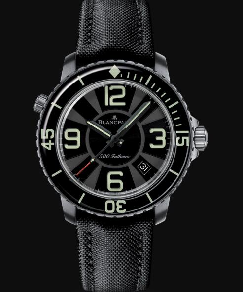 Blancpain Fifty Fathoms Watch Review 500 Fathoms Replica Watch 50015 12B30 52B