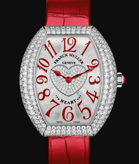 Franck Muller Heart Replica Watch Cheap Price 5002 QZ D3 1P OG chif rouge
