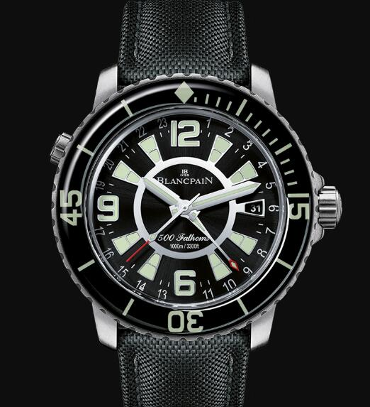 Blancpain Fifty Fathoms Watch Review 500 Fathoms GMT Replica Watch 50021 12B30 52B