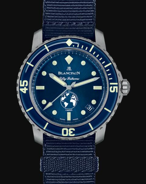 Blancpain Fifty Fathoms Watch Review Fifty Fathoms Ocean Commitment III Replica Watch 5008 11B40 NAOA
