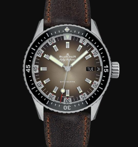 Blancpain Fifty Fathoms Watch Review Bathyscaphe Jour Date 70s Replica Watch 5052 1110 63A
