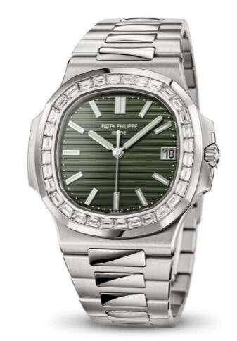 Replica Patek Philippe Nautilus 5711 Stainless Steel Baguette Green Watch 5711/1300A-001