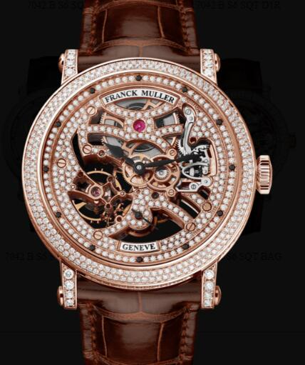 Franck Muller Round Men Skeleton Replica Watch for Sale Cheap Price 7042 B S6 SQT D MVT D 5N