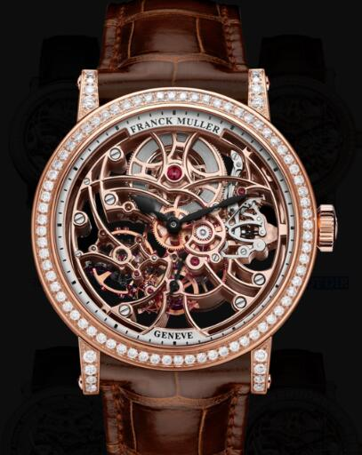 Franck Muller Round Men Skeleton Replica Watch for Sale Cheap Price 7042 B S6 SQT D1R 5N