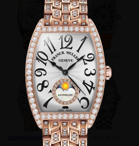 Franck Muller Cintrée Curvex Ladies Replica Watch for Sale Cheap Price 7500 SC AT FO L D1R CD 1R 5N