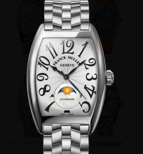 Franck Muller Cintrée Curvex Ladies Replica Watch for Sale Cheap Price 7500 SC AT FO L