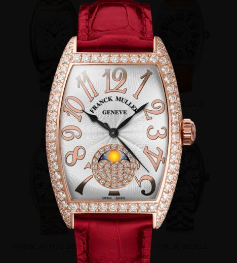 Franck Muller Cintrée Curvex Ladies Replica Watch for Sale Cheap Price 7500 SC AT FO REL L D CD 1P