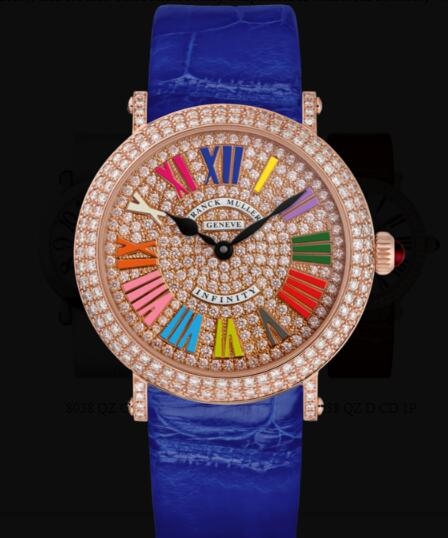 Franck Muller Round Ladies Classic Replica Watch for Sale Cheap Price 8038 QZ COL DRM R D CD