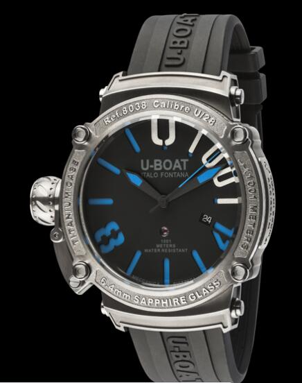 U Boat Dive Replica Watch CLASSICO 47 1001 SS BLU 8038 Dive