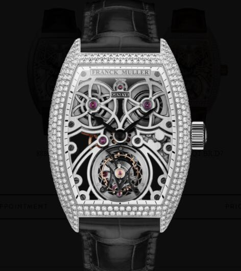 Franck Muller Fast Tourbillon Replica Watches for sale Cheap Price 8889 T F SQT BR D7 OG