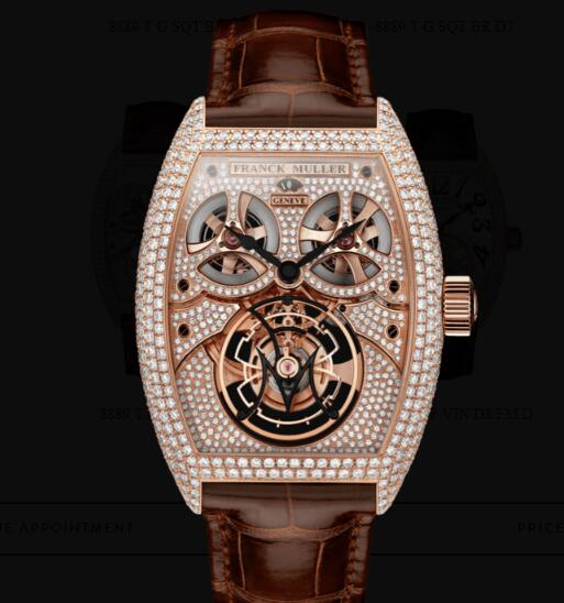 Franck Muller Giga Tourbillon Replica Watches for sale Cheap Price 8889 T G D8 MVT D 5N