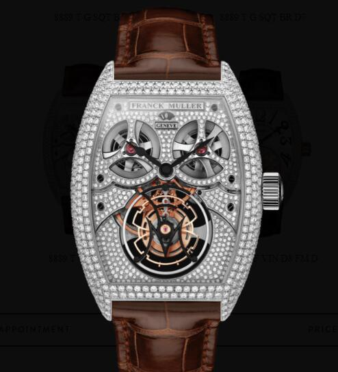 Franck Muller Giga Tourbillon Replica Watches for sale Cheap Price 8889 T G D8 MVT D OG