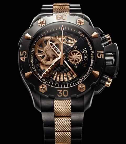 Replica Zenith Watch Zenith Defy Xtreme Open Or & Titane 96.0528.4021/21.M528 Titanium - Pink Gold