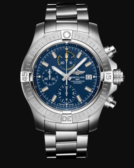Breitling Avenger Chronograph 45 Stainless Steel - Blue Replica Watch A13317101C1A1
