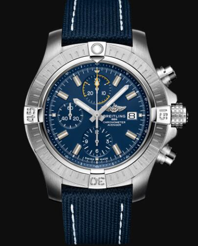 Breitling Avenger Chronograph 45 Stainless Steel - Blue Replica Watch A13317101C1X1