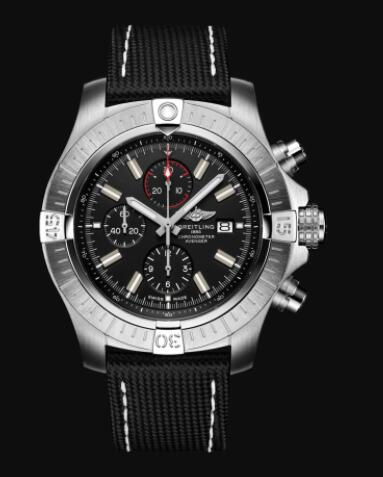 Replica Breitling Super Avenger Chronograph 48 Stainless Steel - Black Watch A13375101B1X1
