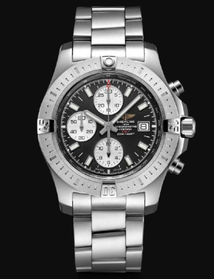 Breitling Colt Chronograph 44 Automatic Stainless Steel - Black Men Replica Watch A13388111B1A1